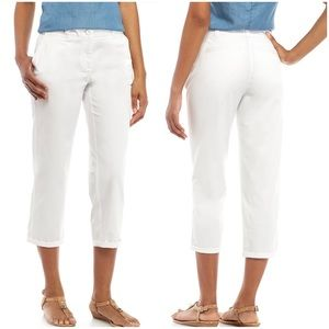 Crown & Ivy Charlotte Relaxed Rolled Chino Pants
